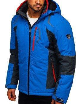 Modrá pánska lyžiarská bunda Bolf BK085