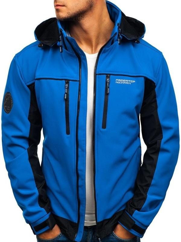 Modrá pánska softshellová bunda BOLF 2339