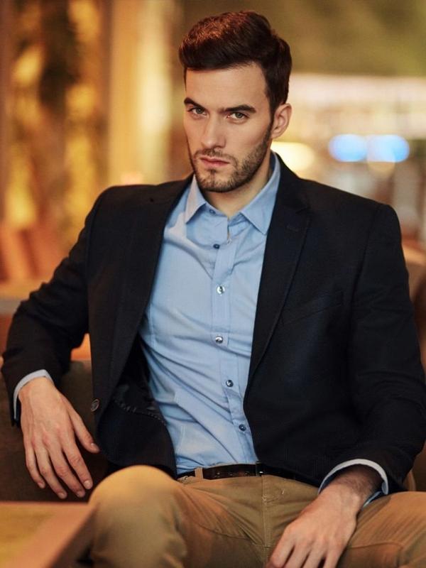 Štylizácia č. 395 - elegantné sako, elegantná košeľa, chinos nohavice