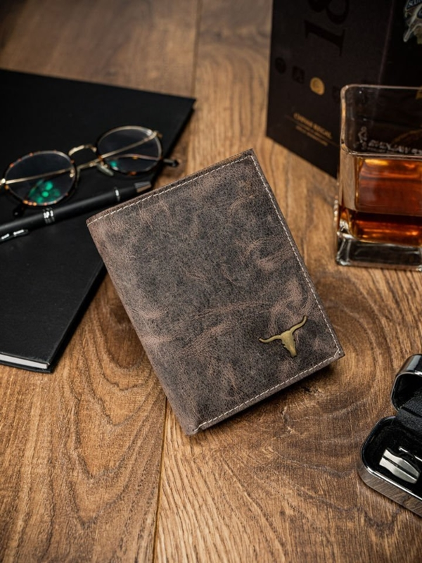 Svetlohnedá pánska kožená peňaženka 62