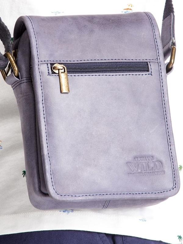 Tmavomodrá pánska kožená taška 2480