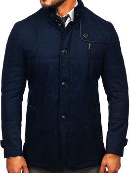 Tmavomodrý pánsky kabát Bolf EX66A