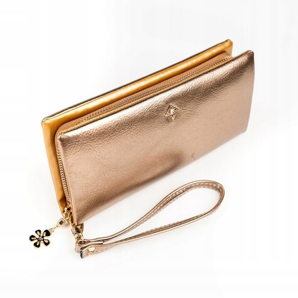 Zlatá dámska koženková peňaženka 1172