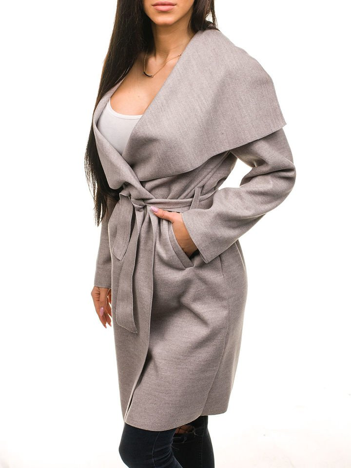Béžový dámsky kabát Bolf 1729 7e364a6d740