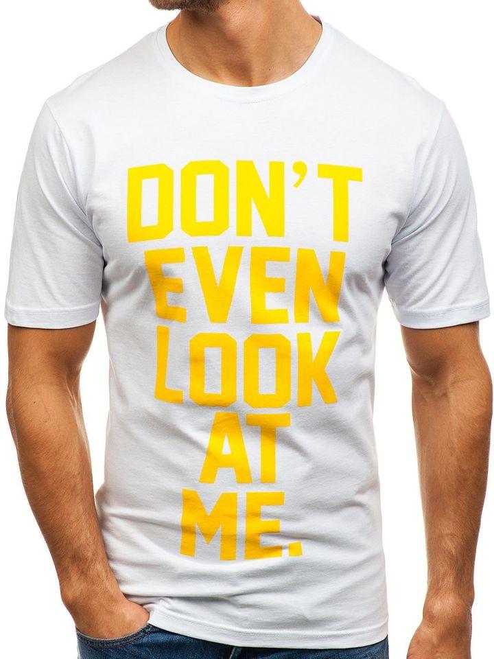 1bd009001d03c Biele pánske tričko s potlačou BOLF 6294