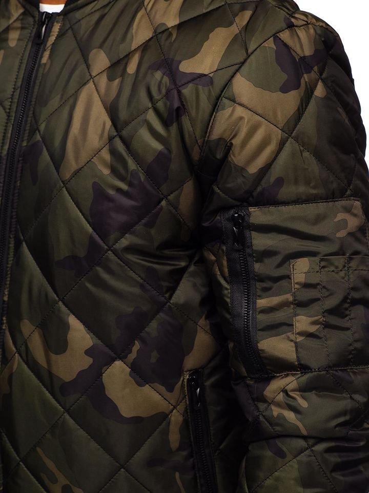 0c04dac198c60 Khaki maskáčový pánsky prechodný bomber BOLF MY01
