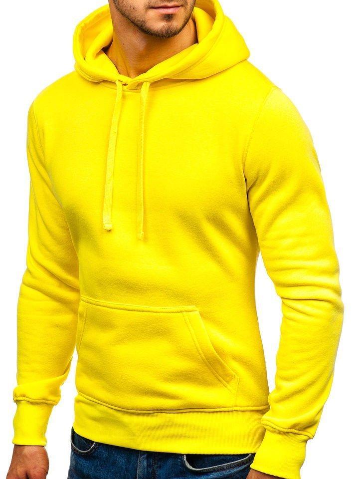 Svetlo žltá pánska mikina s kapucňou BOLF AK47A 782c541e67b