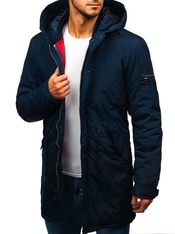 Tmavomodrá pánska zimná bunda 2v1 parka BOLF 5285 f85010a895f