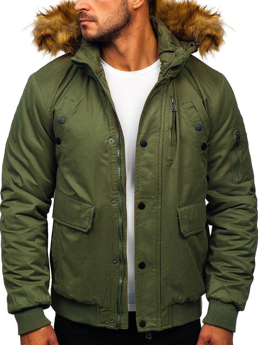 333f06983 Zelená pánska zimná bunda BOLF 1778