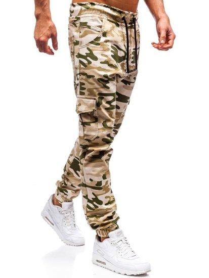 Béžové pánske jogger kapsáče BOLF 0404