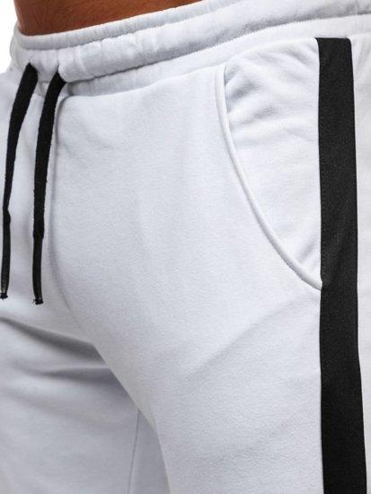 Biele pánske tepláky Bolf 11120