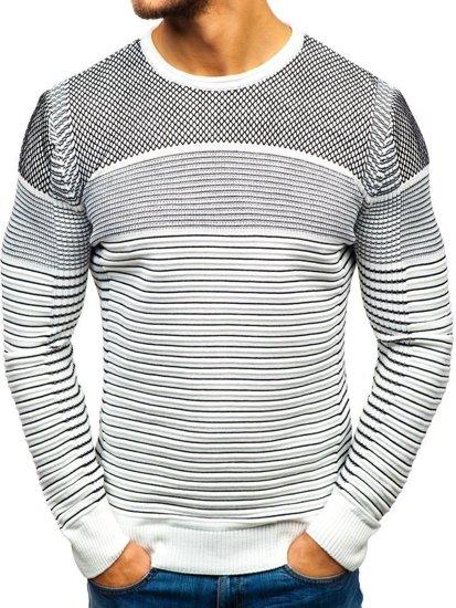 Bielo-čierny pánsky sveter BOLF 1015