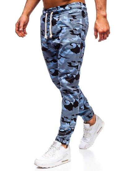 Blankytné maskáčové pánske joggery Bolf 0367
