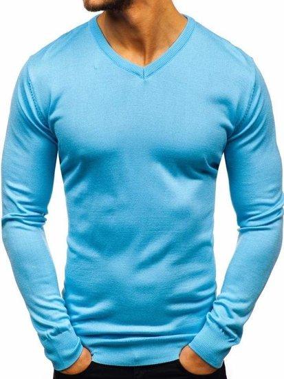 Blankytný pánsky sveter s výstrihom do V Bolf2200