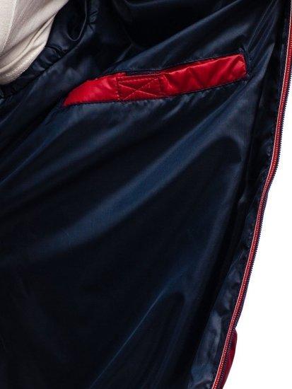 Bordová pánska prešívaná športová prechodná bunda Bolf 1852