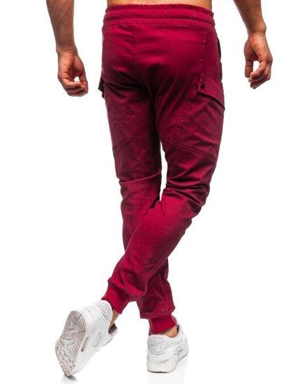 Bordové pánske jogger nohavice Bolf 11103