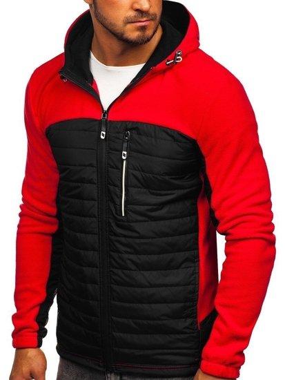 Červená pánska prechodná flísová bunda Bolf  YL010