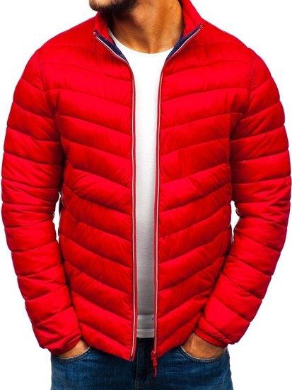 Červená pánska športová prechodná bunda BOLF LY1015