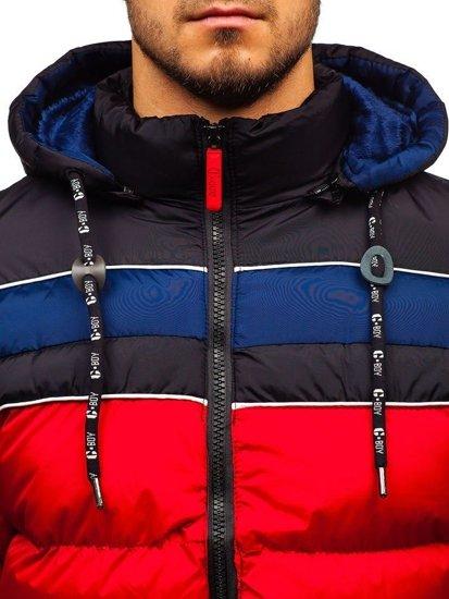 Červená pánska zimná bunda BOLF A429