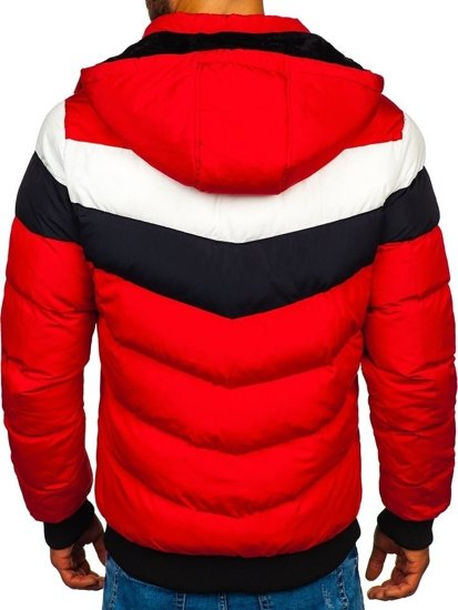 Červená pánska zimná bunda Bolf 5808
