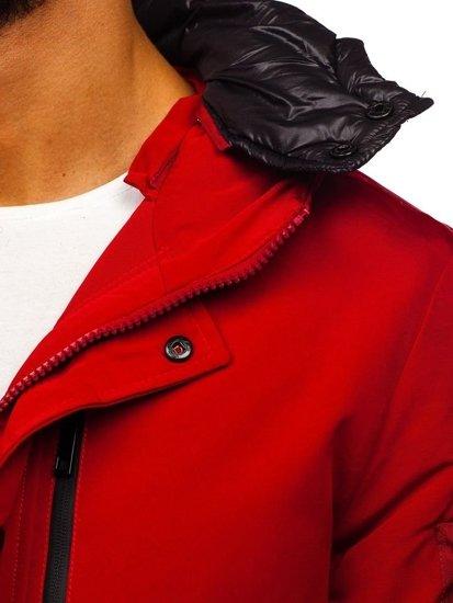 Červená pánska zimná bunda parka Bolf 5841