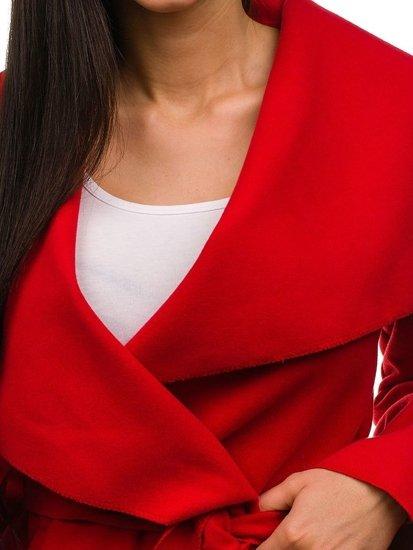 Červený dámsky kabát Bolf 1726