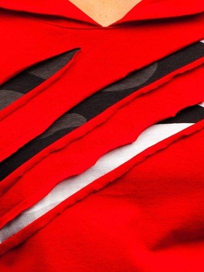 Červený pánsky nátelník s potlačou BOLF 1220