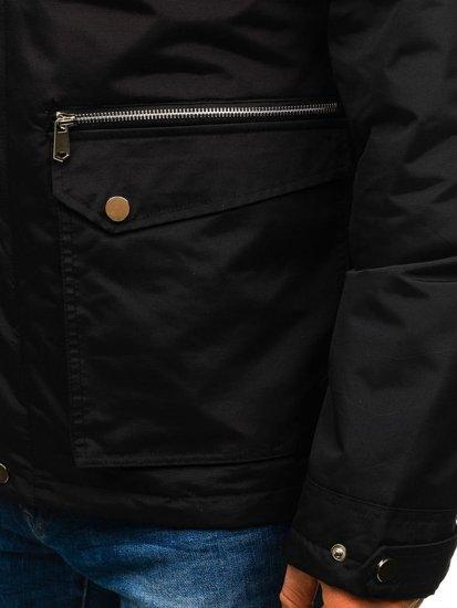 Čierna pánska prechodná bunda BOLF F202
