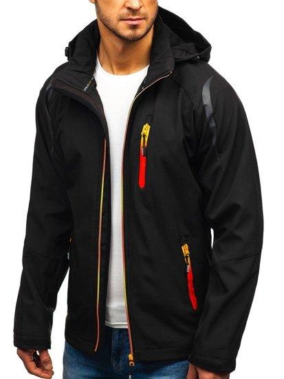 Čierna pánska softshellová bunda BOLF ZS202 5794a0a16b3