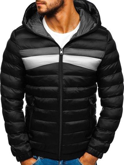 Čierna pánska športová zimná bunda Bolf 5935