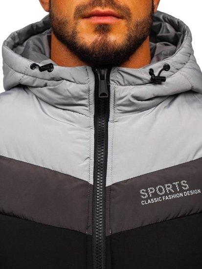 Čierna pánska vesta s kapucňou BOLF 5804