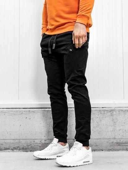 Čierne pánske jogger nohavice Bolf 11103