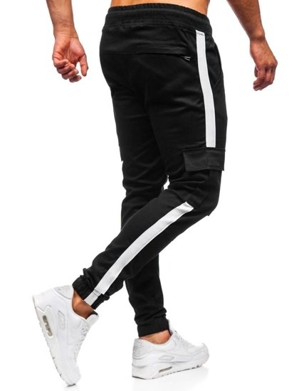 Čierne pánske kapsáčové joggery Bolf 11117