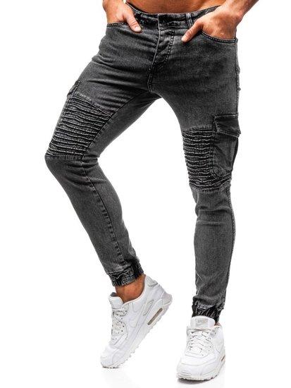Čierne pánske riflové joggery BOLF 1064