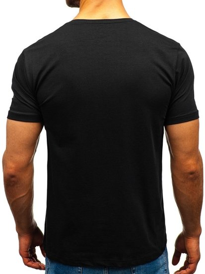 Čierne pánske tričko bez potlače BOLF 172009-A