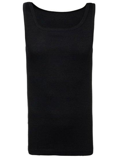 Čierne pánske tričko bez potlače BOLF C10010