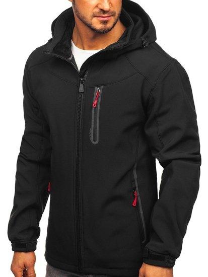 Čierno-červená pánska softshellová bunda Bolf 12269