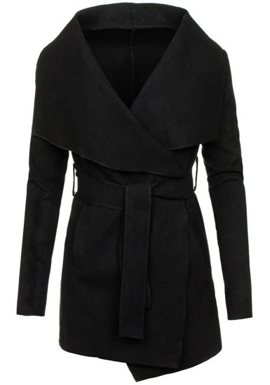 Čierny dámsky kabát Bolf 1726