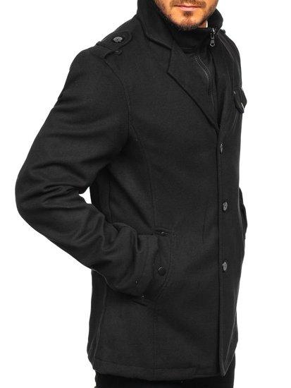 Čierny pánsky plášť BOLF 8853