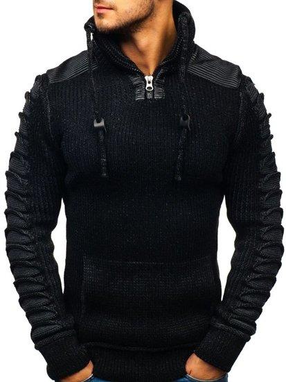 Čierny pánsky sveter BOLF 20013