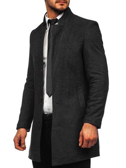 Grafitový pánsky zimný kabát Bolf 0010