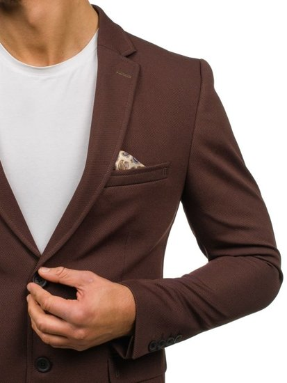 Hnedé pánske elegantné sako BOLF 303