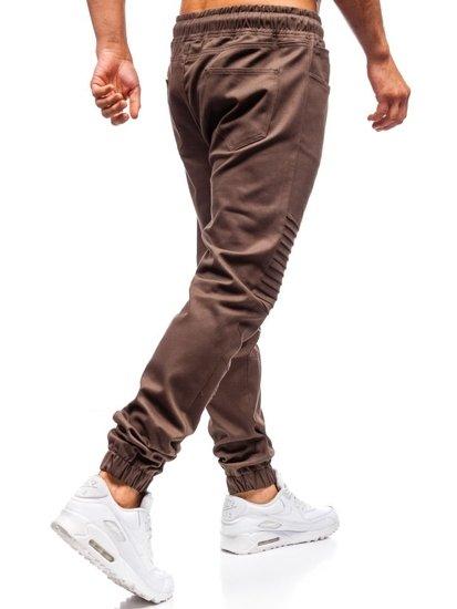 Hnedé pánske jogger nohavice BOLF 0829