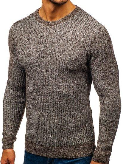 Hnedý pánsky sveter BOLF H1818