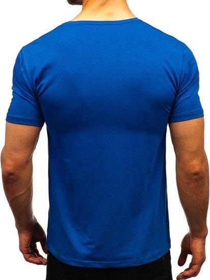 Indigo pánske tričko bez potlače BOLF 172009-A
