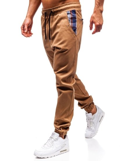 Kamelové pánske jogger nohavice BOLF 0449