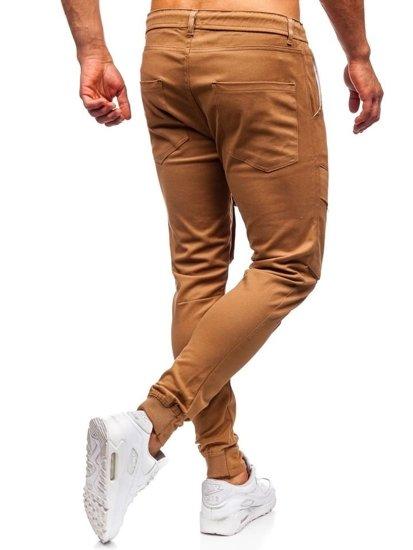 Kamelové pánske kapsáčové joggery Bolf 1003