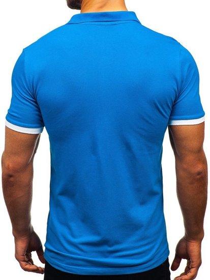Modrá pánska polokošeľa BOLF 171222-1
