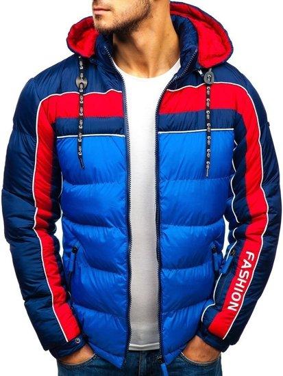 Modrá pánska zimná bunda BOLF A429