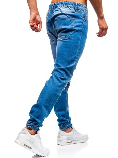 Modré pánske riflové jogger nohavice BOLF 2044-1
